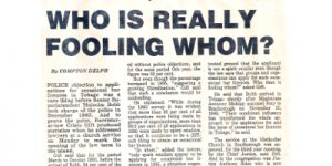 Who is really fooling whom? News Article 6th November 1985